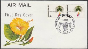 PAPUA NEW GUINEA 1968 cover MOROBE DISTRICT SHOW LAE cds....................L588