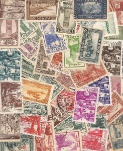 Morocco - Pre-Independence Stamp Collection - 50 Different Stamps