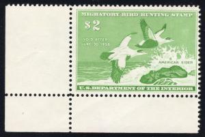 RW24 Emerald - Corner Sheet Margin Single - Mint - O.G. - N.H.