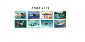 Maldives MNH S/S 9820 Airplanes 8 Stamps