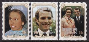 Penrhyn Island #47-49 F-VF Mint NH ** Wedding Overprints