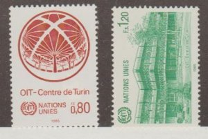United Nations - Offices in Geneva Scott #129-130 Stamps - Mint NH Set