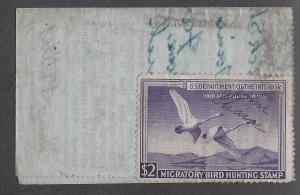 United States, RW17, $2 Swans Single On License,**Used**#1