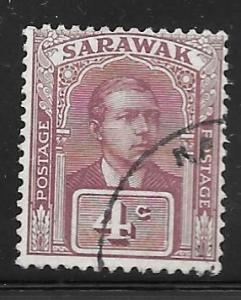 Sarawak 82: 4c Sir Charles Vyner Brooke, used, F