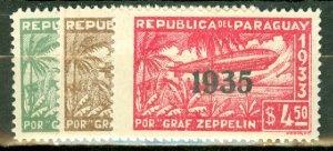 M: Paraguay C93-97 MNH CV $47.50; scan shows only a few