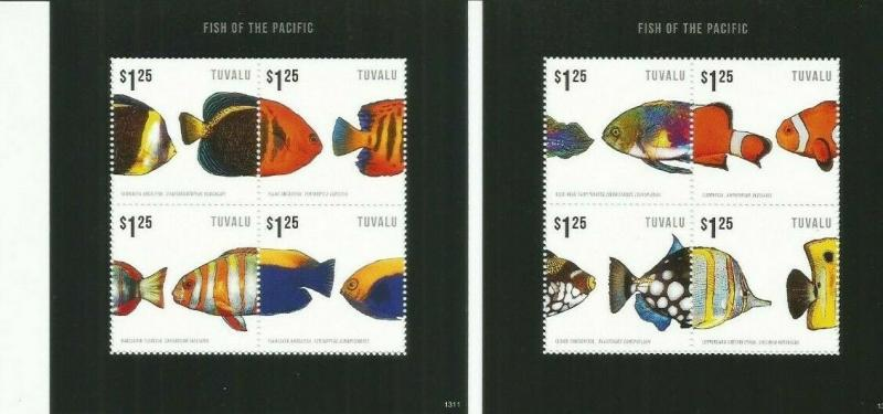 TUVALU 20153  FISH  SCOTT 1251-2  MNH COMPLETE SET