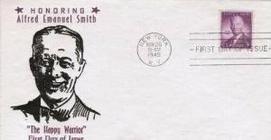 937 3c AL SMITH - Von Losberg cachet #10