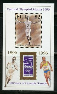 FIJI SCOTT #762/66 1996 ATLANTA OLYMPIC GAMES  SET & SOUVENIR SHEET MINT NH
