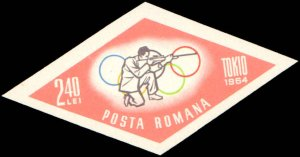 Romania #1665-1669 + 3 Additional Values, Complete Set(8), Imperforated, 1964...