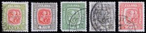 Iceland Scott 99, 101-104 (1915-18) Used/Mint H F-VF, CV $177.65 B