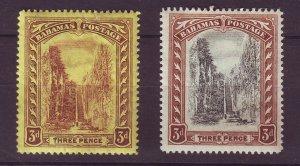 J24089 JLstamps 1917-9 bahamas mh #58,59 wmk 3