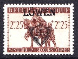 BELGIUM B339 WW2 LÖWEN OVERPRINT OG NH U/M F/VF BEAUTIFUL GUM