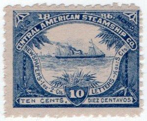 (I.B) US Cinderella : Central American Steamship Company 10c
