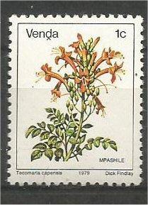 VENDA, 1979, MNH 1c, Flowers, Scott 5