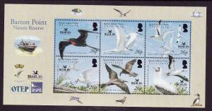 BIOT-Sc#325-unused NH sheet-Birds-Birdlife International-2006-