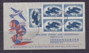 NETHERLANDS, 1940 KLM 2nd.Flight cover to Johannesburg, South Africa
