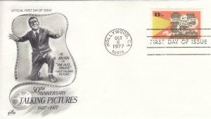 1977, 50th Anniv. Talking Pictures, Artcraft, FDC (D14869)