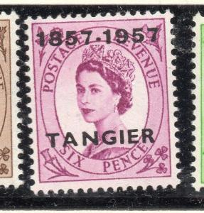 Tangier 1957 Early Issue Fine Mint Hinged 6d. Optd 265212