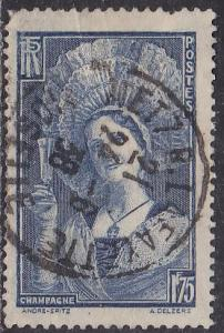 France Sc# 350 Hinged Used 1938 CDS