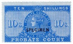 (I.B) QV Revenue : Probate Court 10/- (specimen)