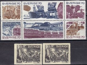 Sweden #866a, 867-8 F-VF Unused CV $13.15 (Z6222)