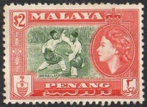 PENANG 1957 $2 Bersilat MH