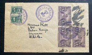 1937 Cartago Costa Rica Cover To Baton Rouge LA USA