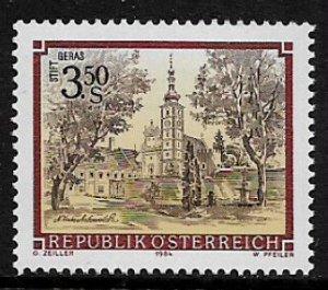 Austria #1285 MNH Stamp - Geras Monastery