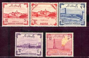 Pakistan; 1955: Sc. # 73-76: */MH Cpl. Set