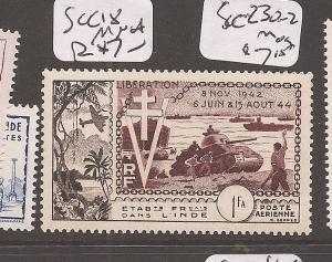 French India SC C18 MNH (4azi)