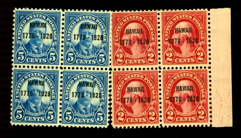 647-8 MINT Blocks F-VF OG NH Cat$115