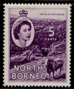 NORTH BORNEO QEII SG376, 5c reddish violet, M MINT.