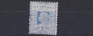 NEW SOUTH WALES    1905 - 10     S G  235     2D  DEEP ULTRAMARINE   NO GUM