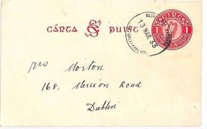 EIRE *Hacketstown* Carlow 1933 Skeleton Stationery Card {samwells-covers}AZ205