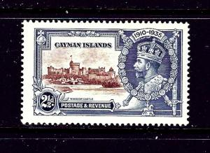 Cayman Is 82 MH 1935 KGV SilverJubilee