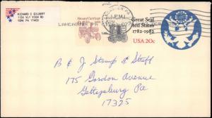 United States, Pennsylvania, United States Postal Stationary, Modern Definitives
