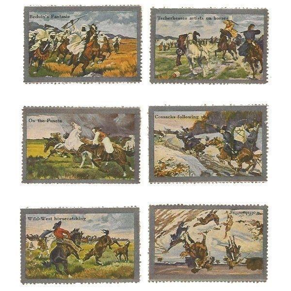 Paintings of Horses in Action Poster Stamps