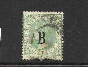 BANGKOK 1882-85  24c  GREEN   QV  GU  WMK CA   SG 23
