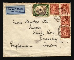 Jamaica 1936 Cover to London - Z17671