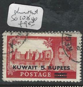 KUWAIT  (P0903B)  ON  GB QEII 5R/5/-  SG 108  VFU