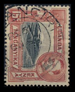K.U.T. / TANGANYIKA - 1938 SG137 CANCELLED KINYANGIRI DOUBLE CIRCLE DATE STAMP