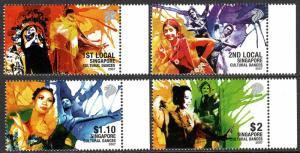 Singapore 1242-1245, MNH. Cultural Dances:Chinese,Indian,Eurasian,Malay, 2007