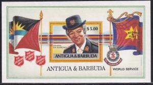 Antigua Barbuda 1988 Sc 1091 General Eva Burrows Salvation Army Stamp SS MNH