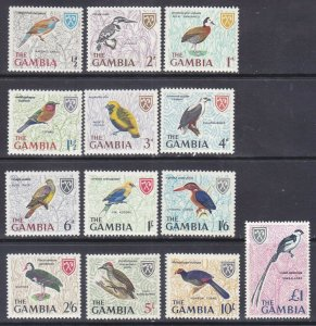 Gambia 215-27 MNH 1966 Various Birds Full Set of 13 Very Fine