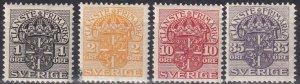 Sweden #O41-2, O48, O54  Unused  CV $3.45 (Z6322)