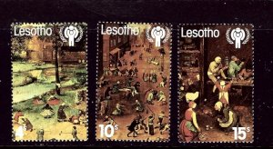 Lesotho 278-80 MNH 1979 Int'l Year of the Child    (ap3835)
