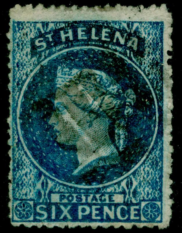 ST. HELENA SG2, 6d blue, FINE USED. Cat £275.