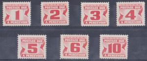 Canada USC #J21-27 1967 Centennial Postage Dues - 7 Diff. Compl. Mint NH - F+-VF