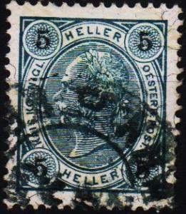 Austria. 1899 5h(Varnish Bars) S.G.141 Fine Used