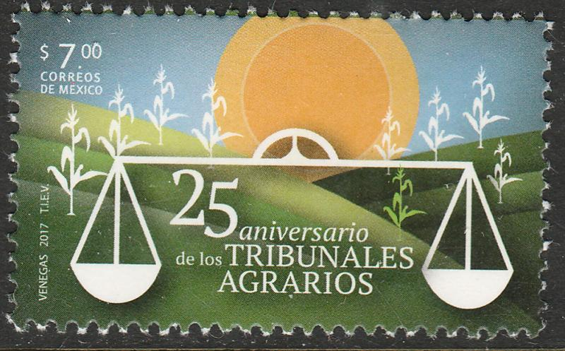 MEXICO 3057, Agrarian Courts, 25th Anniversary. MNH